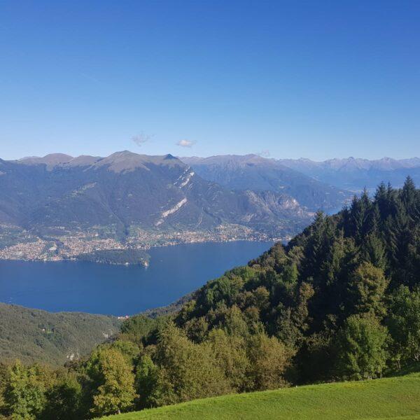 La vista dal RIfugio sul lago di Como